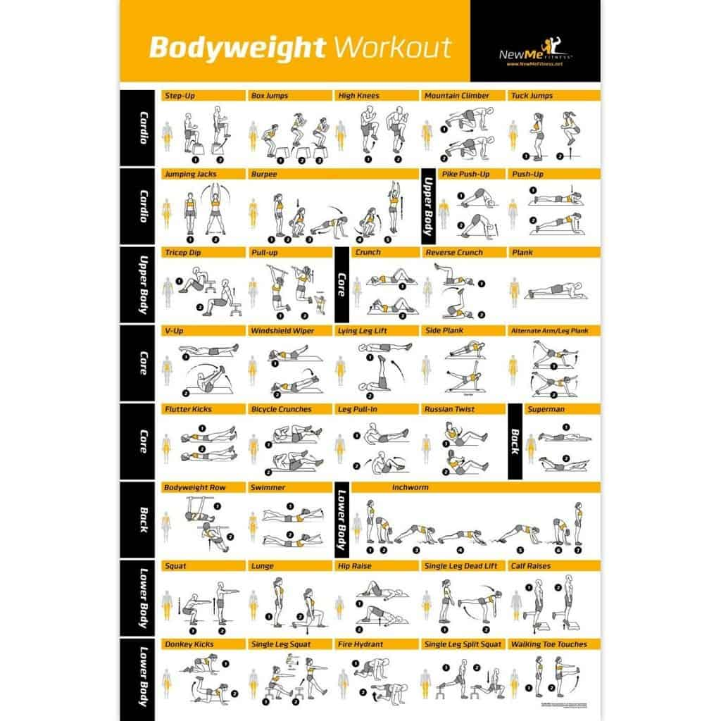 bodyweight exercises gym poster
