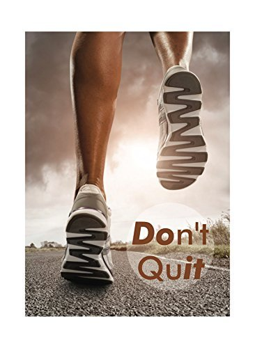 don't quit running poster