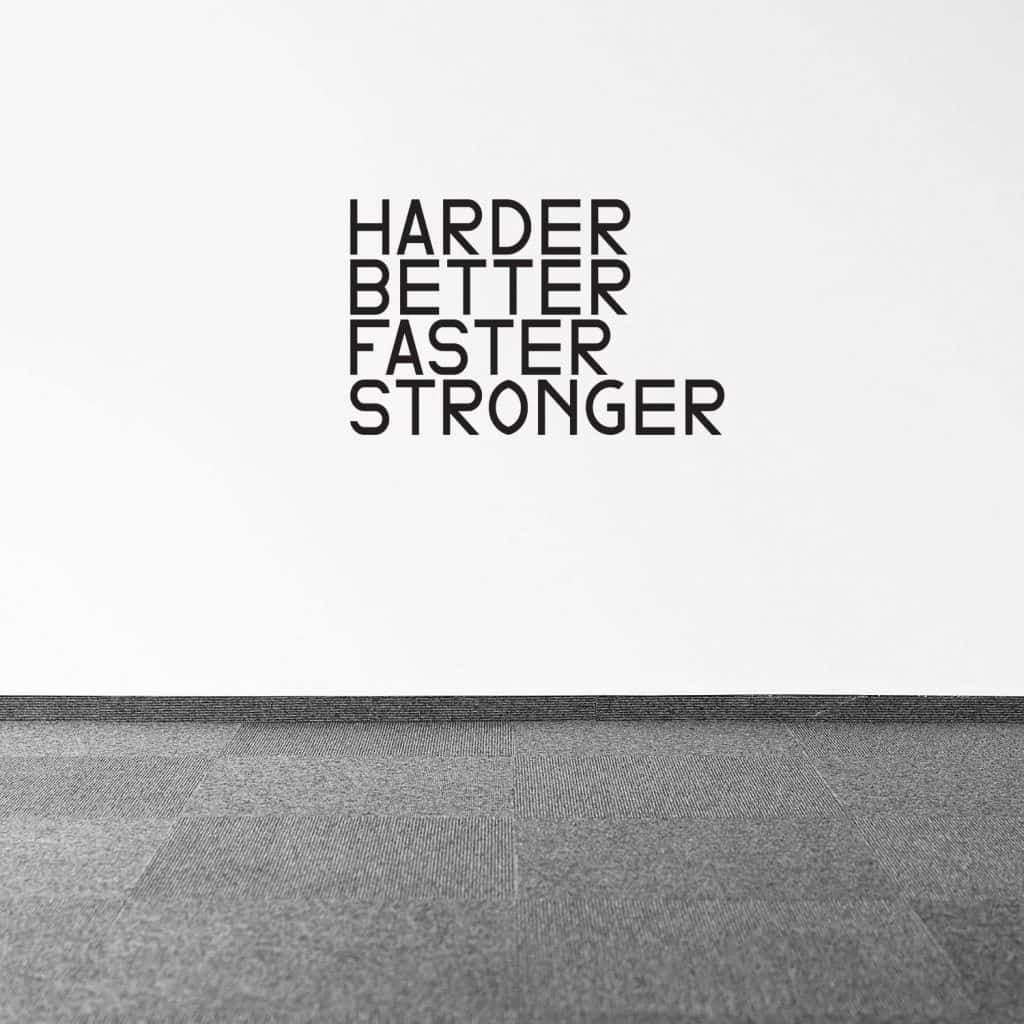 harder better stronger faster decal