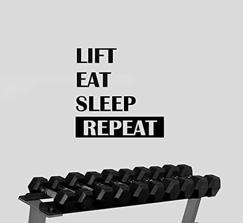 lift eat sleep repeat decal