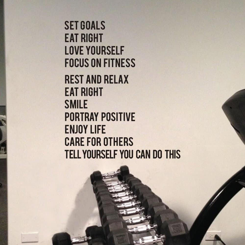 motivational list decal