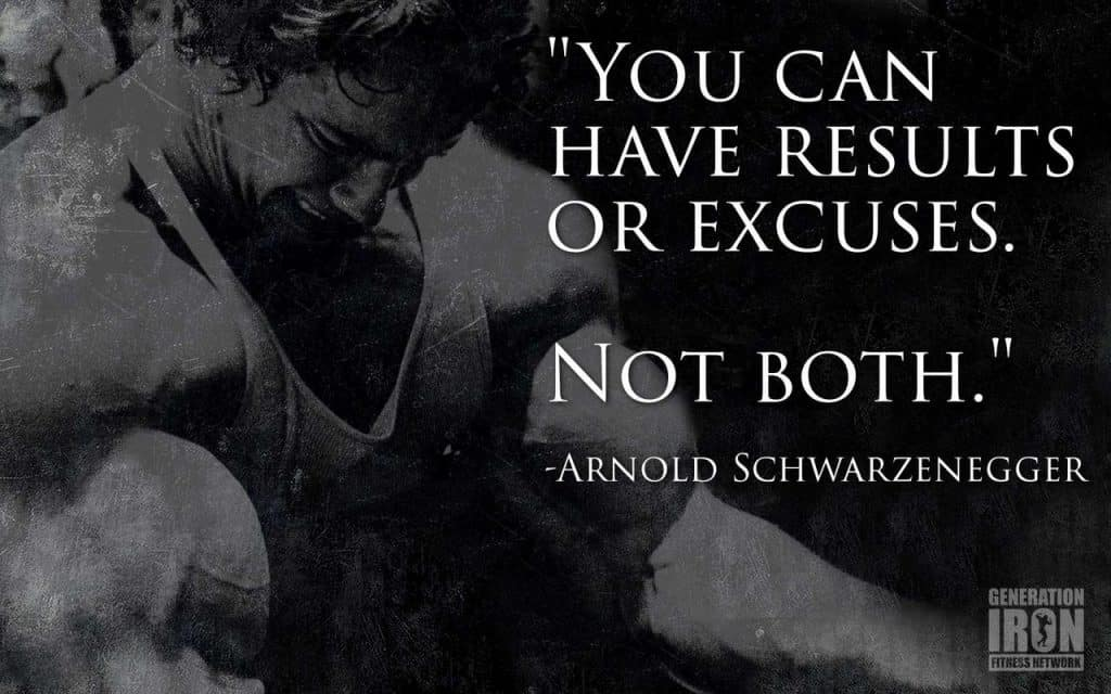 results or excuses gym poster