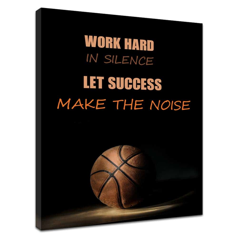 word hard in silence gym poster