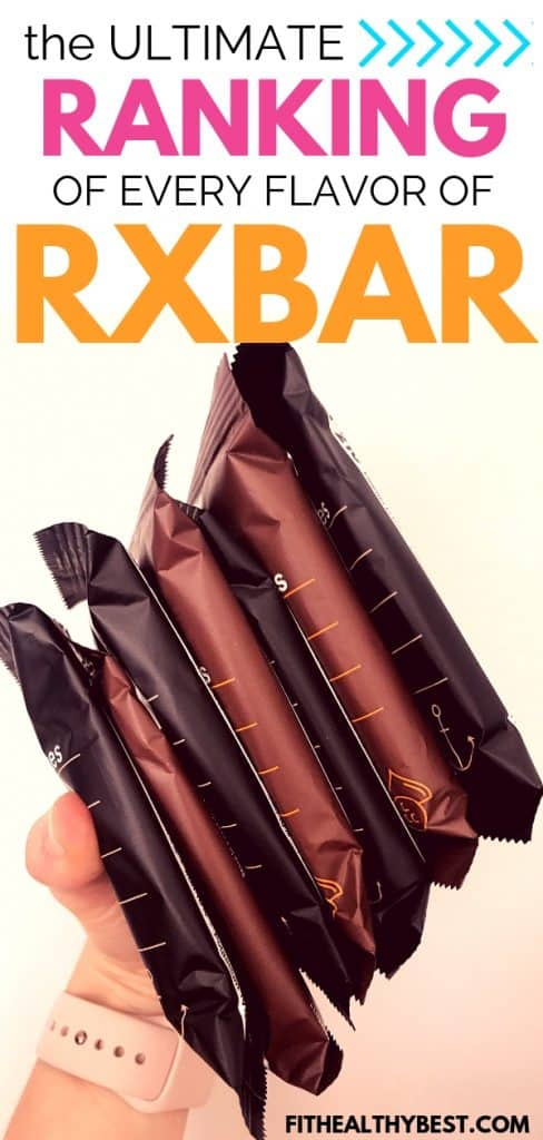 every rxbar flavor ranked.  you might be surprised to find out their pick for best rxbar flavor!