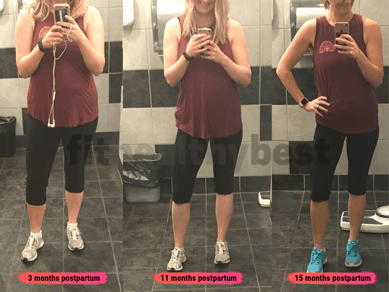 postpartum weight loss before and after